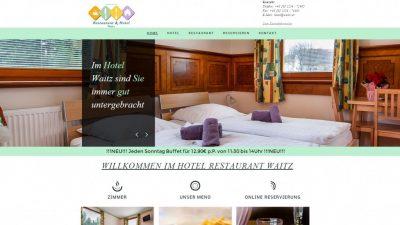 Das Hotel Restaurant Waitz ist in dem kleinen Ort Unterwaltersdorf zu finden. Der Eigentümer war mit seinem bisherigen, veralteten Internetauftritt nicht mehr zufrieden, wollte aber auch keine kostenintensive, neue Homepage haben. Nach einem intensiven Beratungsgespräch war er überrascht von meinem günstigen Angebot und hat sich doch für ein neues Webdesign entschieden und von der neuen Homepage begeistert.