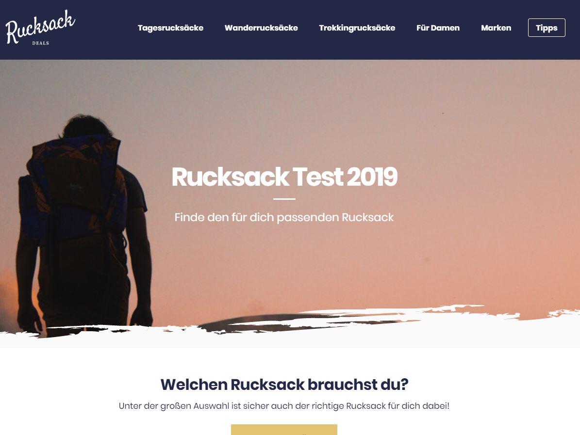 Webdesign rucksack.deals
